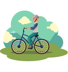 teen boy teenager riding urban bicycle cycling vector image vector image