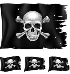 Three types of pirate flag vector image vector image