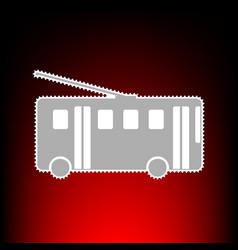 Trolleybus style vector