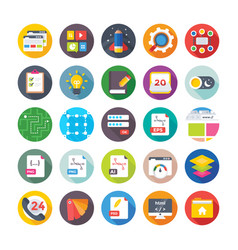 web design and development icons 15 vector image vector image