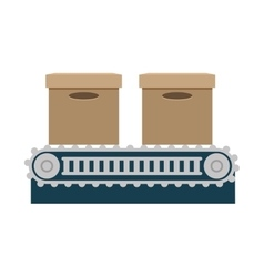 Band transport boxes isolated icon vector