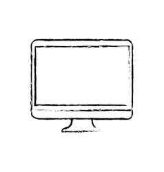 Modern tv technology vector image
