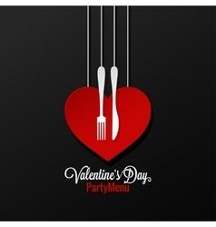 Valentines day menu logo design background vector