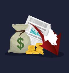Bear money cash economy statistics vector