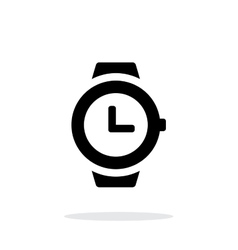 Wristwatch icon on white background vector