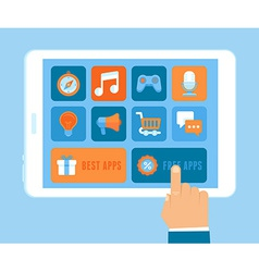 app purchasing concept in flat style vector image