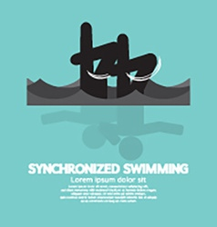 Synchronized swimming graphic symbol vector