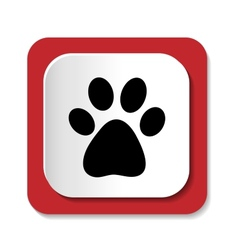 Icons with the image of an animal paw vector