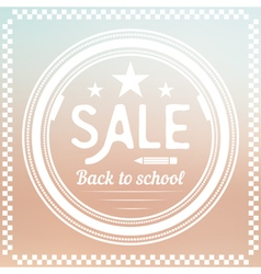 Back to school label sale vector