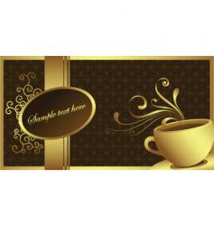 Gold coffee vector