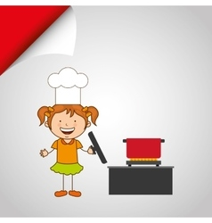 Kids cooking design vector