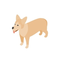 Mongrel dog icon isometric 3d style vector