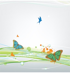 butterfly on abstract background vector image