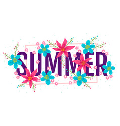 banner for summer vector image