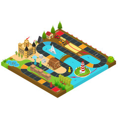 board game concept 3d isometric view vector image