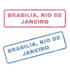 Brasilia rio de janeiro textile stamps vector