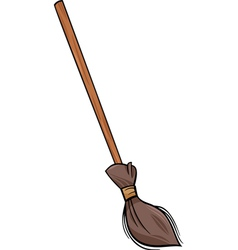 Broom clip art cartoon vector