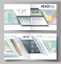 business templates for bi fold square brochure vector image