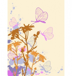 colored abstract floral background vector image vector image