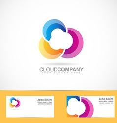 Colored cloud design vector
