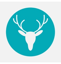 deer head icon vector image