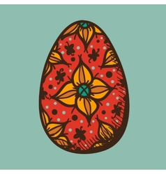 Easter egg with pattern vector image vector image