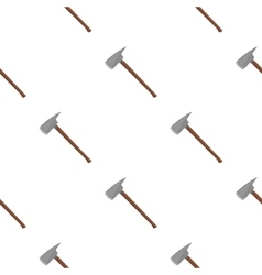 Fire axe icon cartoon pattern silhouette fire vector image vector image