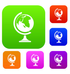 globe set collection vector image vector image