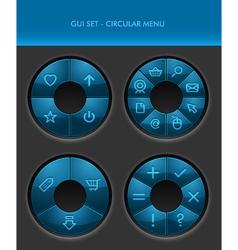 GUI Set - Radial Menus vector image vector image