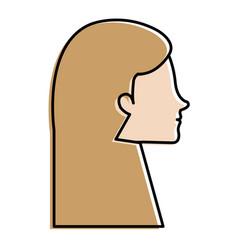 Head profile woman avatar character vector