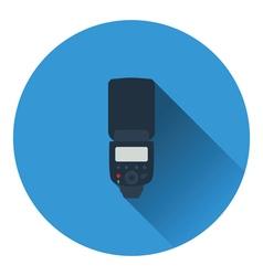 Icon of portable photo flash vector image vector image