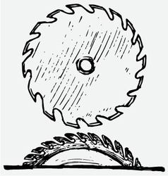 Industrial circular saw disk vector