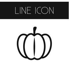 Isolated pumpkin outline gourd element can vector