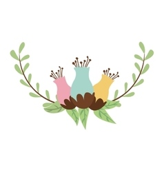 leaves wreath decoration vector image vector image