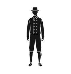 Man single icon in black styleman symbol vector