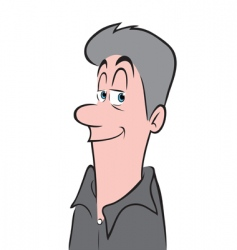 middle age man vector image