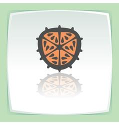 outline orange slice icon Modern infographic logo vector image
