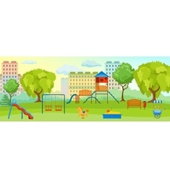 Playground At The Park Composition vector image vector image