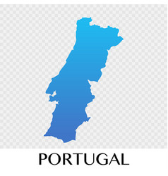 Potugal map in europe continent design vector