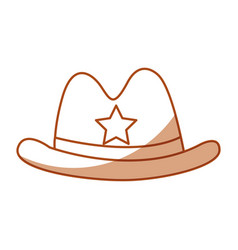 Sheriff hat isolated icon vector