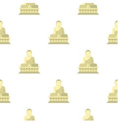 sitting buddha south korea pattern seamless vector image vector image