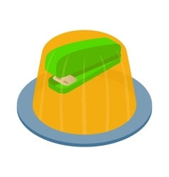 Stapler in the jelly icon isometric 3d style vector
