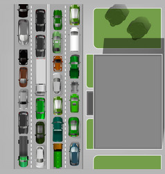 traffic jam image vector image vector image