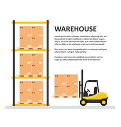 warehouse background template vector image