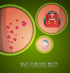 With backtoschool and backpack vector