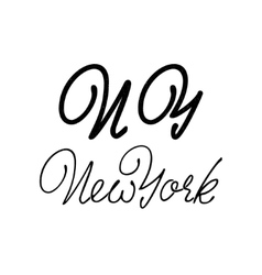 New york - hand drawn calligraphy and lettering vector