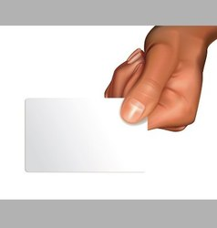 Arm with blank card vector