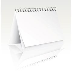 blank desk calendar vector image