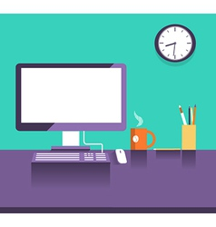 Interior office placeflat design style vector