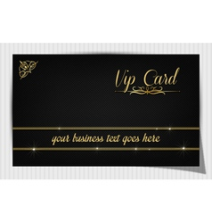 Black creative vip card vector image